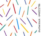 colorful pencils colors pattern ... | Shutterstock .eps vector #646021786