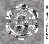 clean power on grey camo pattern | Shutterstock .eps vector #646022482