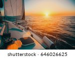 Sailing Boat In The Sea During...