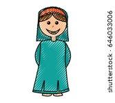 shepherd manger character icon | Shutterstock .eps vector #646033006
