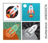set of rocket illustrations... | Shutterstock .eps vector #646033276