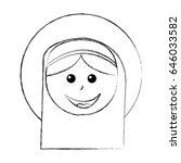 mary virgin manger character   Shutterstock .eps vector #646033582