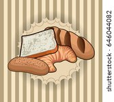 set of bakery products on a... | Shutterstock .eps vector #646044082