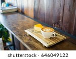vintage style orange cake with...   Shutterstock . vector #646049122