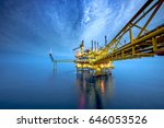 offshore oil and gas rig... | Shutterstock . vector #646053526