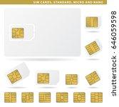 set of sim cards for cellphone  ...   Shutterstock .eps vector #646059598