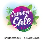 summer sale. vector background... | Shutterstock .eps vector #646060336