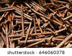 many rusted nail group of iron... | Shutterstock . vector #646060378