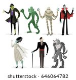 great classic monsters | Shutterstock .eps vector #646064782