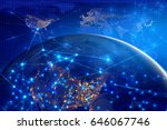 blue earth global networking... | Shutterstock . vector #646067746
