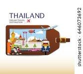 thailand vector travel...   Shutterstock .eps vector #646073692