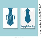 happy fathers day card design... | Shutterstock .eps vector #646089946