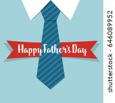 happy fathers day card design... | Shutterstock .eps vector #646089952