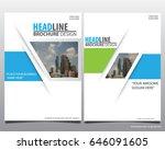 abstract vector modern flyers... | Shutterstock .eps vector #646091605