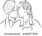 portrait of man and woman | Shutterstock . vector #646097296