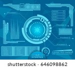 abstract future  concept vector ... | Shutterstock .eps vector #646098862