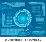 abstract future  concept vector ... | Shutterstock .eps vector #646098862