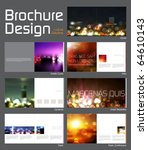 brochure layout design template ... | Shutterstock .eps vector #64610143