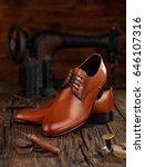 cobbler workshop | Shutterstock . vector #646107316