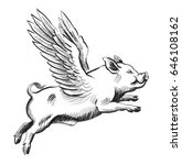 flying pig | Shutterstock . vector #646108162