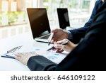 team work process. young... | Shutterstock . vector #646109122