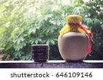 chinese liquor in ceramic pot   Shutterstock . vector #646109146