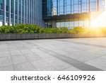 modern building and empty... | Shutterstock . vector #646109926