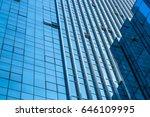 closeup of glass wall of modern ... | Shutterstock . vector #646109995
