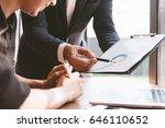 business concept  business man... | Shutterstock . vector #646110652
