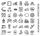 machine icons set. set of 36... | Shutterstock .eps vector #646113616