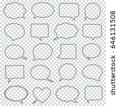 hand drawn speech bubbles on a... | Shutterstock .eps vector #646131508