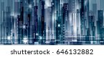 night city background  with... | Shutterstock .eps vector #646132882