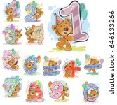 a set of vector illustrations... | Shutterstock .eps vector #646133266