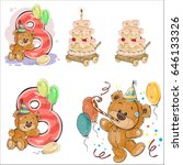 set of vector illustrations... | Shutterstock .eps vector #646133326