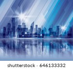 night city background | Shutterstock .eps vector #646133332