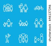 father icons set. set of 9... | Shutterstock .eps vector #646137346
