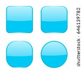 blue buttons. vector 3d... | Shutterstock .eps vector #646139782
