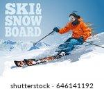 vector illustration of skiing... | Shutterstock .eps vector #646141192