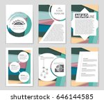 abstract vector layout...   Shutterstock .eps vector #646144585