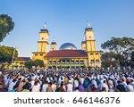 muslim people in garut  west...   Shutterstock . vector #646146376