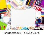 back to school supplies | Shutterstock . vector #646150576