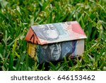 origami house made with... | Shutterstock . vector #646153462