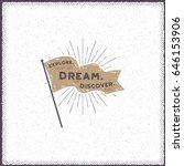 hand drawn pennant design....   Shutterstock .eps vector #646153906