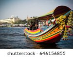 Colorful Long Tail Boat On The...