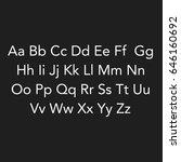lettering of abc's alphabet on... | Shutterstock . vector #646160692