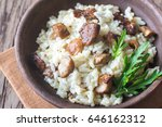 risotto with porcini mushrooms | Shutterstock . vector #646162312