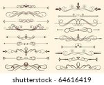 set of design elements in... | Shutterstock .eps vector #64616419