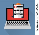 electronic health online a... | Shutterstock .eps vector #646165876