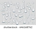 set of pure clear drops of... | Shutterstock .eps vector #646168762
