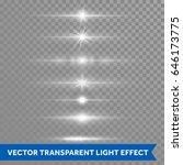 light effect or twinkling star... | Shutterstock .eps vector #646173775